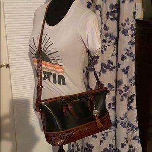 Brahmin Convertible Crossbody Leather satchel